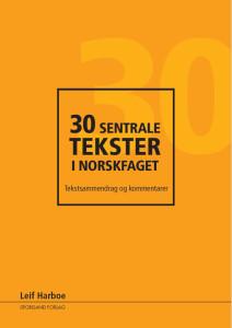omslag lavoppl 30 tekster i norskfaget